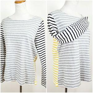 Boden Womens Size 10 Top Long Sleeve Breton Stripe